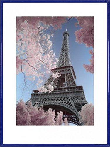 Paris Poster Kunstdruck und Kunststoff-Rahmen - Eiffel Tower Infrared, David Clapp (80 x 60cm)