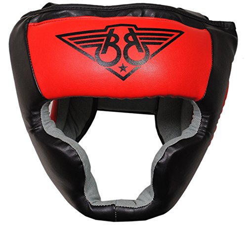 Boom aus reinem Leder Boxing Kopfschutz MMA Martial Arts Kick Boxen