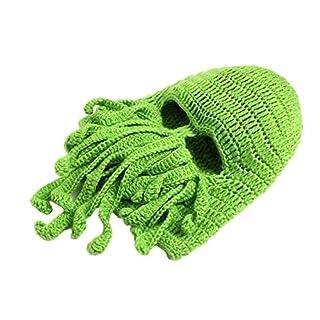 Ayouyou Octopus Masken Hut Damen Herren Winter im Freien Ski Hut Wintermütze Winddicht Radsportmütze Warme Strickmütze Masken (Grün) EINWEG Verpackung