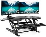 """Vivo angolo nero altezza in piedi cubici sit regolabile per stare in piedi - 43.5"""" wide riser tavolo scrivania (desk-v000vc)"""