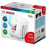 Bosch Huisapparaten Powerprotect Stofzuigerzak, met Sluiting, Geschikt voor alle Modellen Behalve BSG8, BSN1, 16 Stuks, Wit