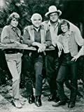 Fotomax Vintage Photo of Michael Landon,Lorne Greene with Dan Blocker and David Canary.