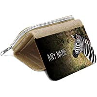 Beige borsa Zebra personalizzata–regalo con nome ragazze figlia Kids monete # 47