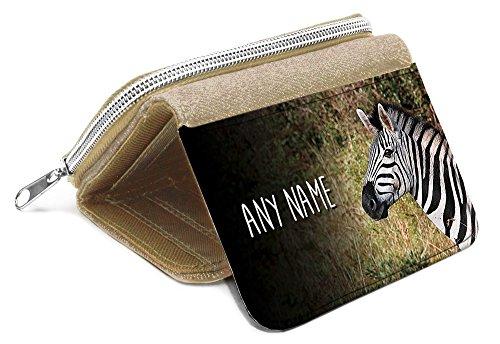 Beige borsa Zebra personalizzata-regalo con nome ragazze figlia Kids monete # 47