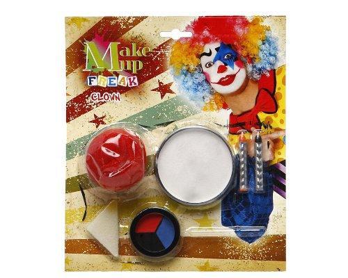 Atosa 8422259143437 - Schminkset Clown mit Zubehör, 23 x 20 cm