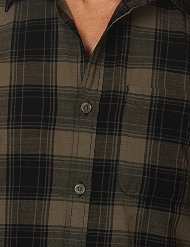 Jack & Jones Men's Merrick Onepocket Men's Khaki Plaid Shirt 100% Cotton Vert