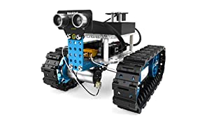 Makeblock mBot Starter, 2-in-1 programmable robot kit, robot tank and three-wheel robot car two forms, Bluetooth Version for families and individuals, blue