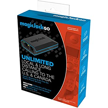 Magicjack Go K1103 Digital Phone Service Device (Unlimited Calls for 12 Months)