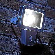 Auraglow Projecteur de sécurité DEL extérieur mural à faible énergie avec détecteur de mouvement PIR – 150w EQV – Blanc