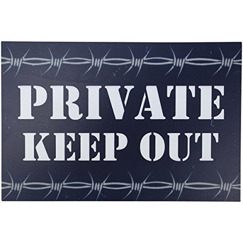 Kombat UK Private Keep Out Holzschild (Airsoft Mine)