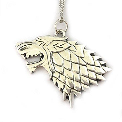 J&C Game of Thrones Haus Stark Logo 45,7cm Halskette in Geschenkbox Family Owned (Cyborg Kostüm Für Männer)