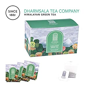 Dharmsala-Green-Tea-Teabags-Himalayan-Green-Loose-Leaf-Teabags-Weight-Loss-Slimming-Tea-Highest-Levels-of-EGCG-Anti-oxidants-10-Teabags-USDA-Organic-Certified-Freshly-Packed-at-our-Plantations-in-Dhar