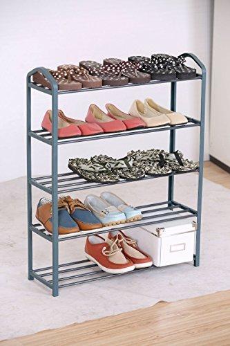 Zapatero de metal con 5pisos para hasta 15pares de zapatos,Estable estante para zapatos
