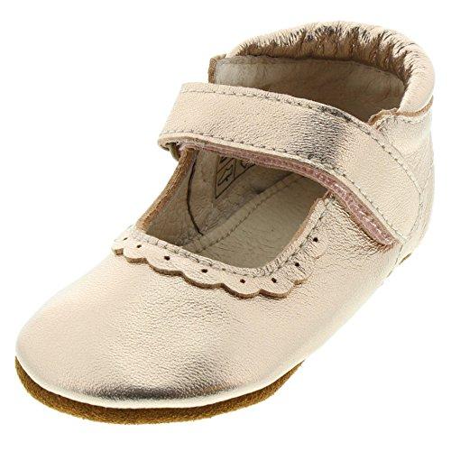EN FANT Enfant Mädchen Baby- und Kinder Ballerinas/Hausschuhe, Leder, Gold Metallic, Gr. 22, Ballerina Lace Copper, 810102 51