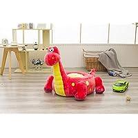 Preisvergleich für MAXYOYO Cute Ultra Soft Kids Plüsch Spielzeug Dinosaurier Gefülltes Plüsch Puppe, Tatami Sofa Stuhl für Jugendliche/Kinder/Baby, Weihnachten Geschenk für Kinder Dinosaurier Rot