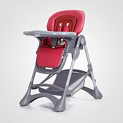 Brisk- Dining Chair Collapsible Portable Children's Chair Multifunction Household Baby Dining Table Seats (Color : Red wine)