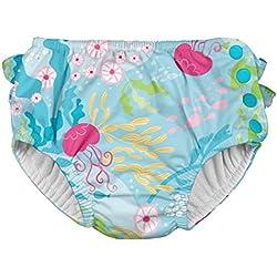 i play. 711150-660-43 - Pañal para nadar, definitivo, con volados y broche, 6-12 meses, color azul