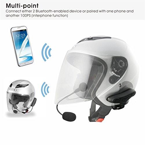 Avantree WASSERFESTES Motorradhelm Bluetooth Intercom Headset mit Mikrofon für Motorräder Fahrer, Motorrad Kopfhörer für Freisprechanlage Anrufe, GPS (TOMTOM, Garmin Zumo Navigation), Musik - 5