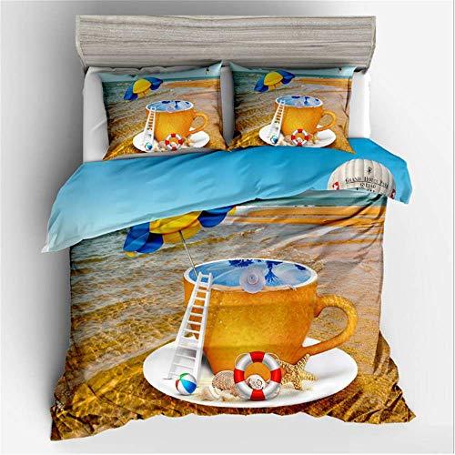 SHJIA 3D Bettwäsche gedruckt Königin Tröster Sets King Twin Size Bettbezug Set A 160x220cm