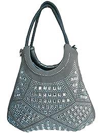 Clicktin Women's Shoulder Bag (Gray, CLKBAG171)