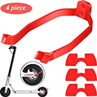 4 Pieces Scooter Replacement Part Accessory Includes Rear Fender Bracket Mudguard Bracket Support and 3 Pieces Rubber Vibration Dampers for Xiaomi M365/ M365 Pro Scooter (Red)