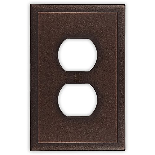 questech Ambient Satin Switch Plate/-Auslass Cover Single Duplex - 3 Pack Oil Rubbed Bronze (Light Switch Wall Plate)