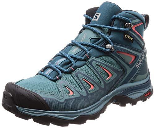 Salomon X Ultra 3 Mid GTX, Stivali da Escursionismo Alti Donna, Blu (Hydro.-Reflecting Pond-Dubarry 000), 38 2/3 EU