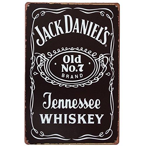 Marquise & lorean  targhe metallo   insegna vintage jack daniels targa   poster decorazioni whisky guarda qui