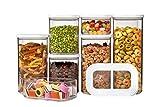 Rosti Mepal 106994830600Modula - Set di contenitori per la conservazione degli alimenti, in acrilonitrile-stirene (SAN)/polietilene, bianco, 36,5x 15x 22,2cm