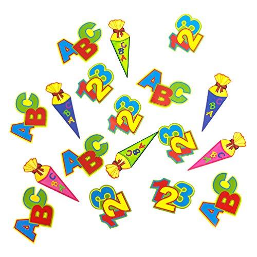 ABC Schultüte 123 Zahlen Buchstaben Konfetti