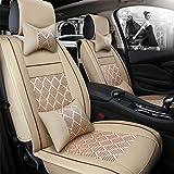Autositzbezug 13-teilig Universal Sports Style Pu Leder/Ice Silk Super Atmungsaktiv - Verstellbares Sitzkissen,C