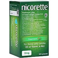 Preisvergleich für Nicorette Kaugummi 2 mg freshmint Kaugummis, 105 St.