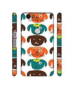 NattyCase Dogs Pattern Design 3D Printed Hard Back Case Cover for Nexus 6P