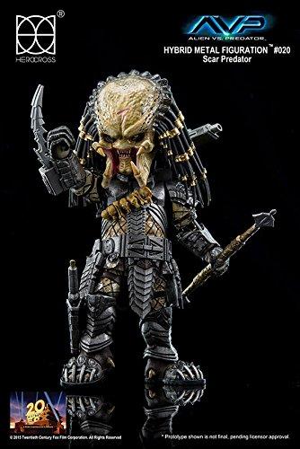 Alien vs Predator Hybrid Metal Actionfigur Scar Predator 14 cm