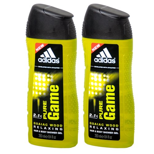 2x Adidas - 2in1 Pure Game Hair & Body Shower Gel (2x 250ml)
