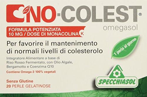 Specchiasol No Colest Integratore Alimentare Formula Potenziata - 20 Perle