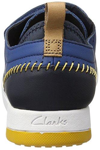 Clarks Jungen Tri Scotty Jnr Low-Top Blau (Blue Combi)