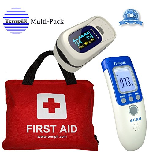 tempir-discounted-bundle-first-aid-kit-contains-over-100-items-finger-pulse-oximeter-body-thermomete