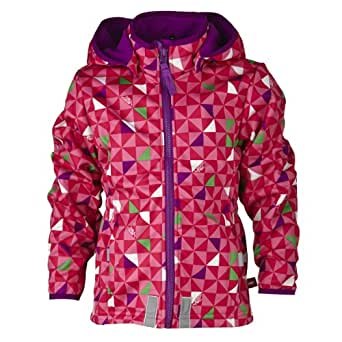 LEGO Wear Manteau  capuche Manches longues Fille - Rose fonc - Pink (469 RADISH RED) - FR : 10 ans (Taille fabricant : 140)