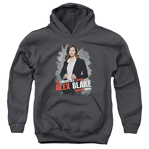 Criminal Minds TV Show CBS Alex Blake Big Boys Youth Pull-Over Hoodie