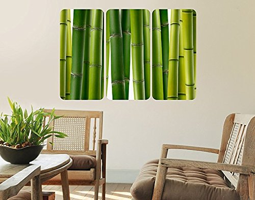 sticker-mural-adhesif-bamboo-plants-triptyche-i-grosse54cm-x-81cm
