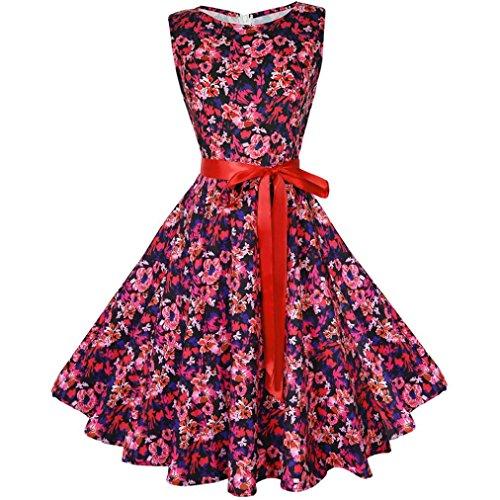 Vectry Kleider Damen Kleid Brautjungfernkleid Petticoat Lange Kleid Sommer  Jumpsuit Kurz Ballkleid Kleiderbügel Über Dem Knie 9cb45eab2e