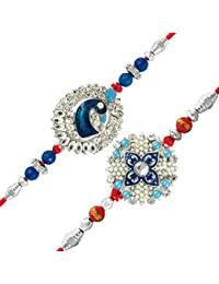 Mahi Combo Of Fascinating Two Rakhis With Pearls For Men/Boy_ Co1104267R