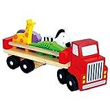 Bino 84076 Holz-LkW mit Tieren