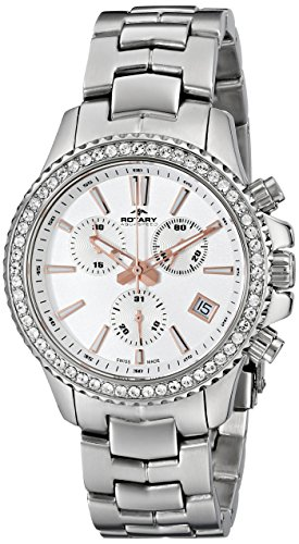 Rotary Women's alb90086/c/01 Analog Display Swiss Quartz Silver Watch