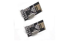 SunFounder 2pcs nRF24L01+ 2.4GHz Wireless Transceiver for Arduino UNO R3 Mega2560 Nano