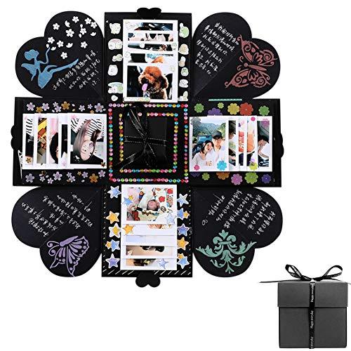 rraschung Box DIY Handmade Fotoalbum Scrapbooking Explosion Box Geschenk für Valentinstag Hochzeit Geburtstagsfeier Festival Geschenk, mit Luxus Zubehör Paket ()