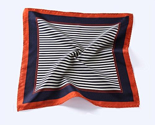 Hisdern - Mouchoir - Homme Multicolore - Navy Blue / Orange