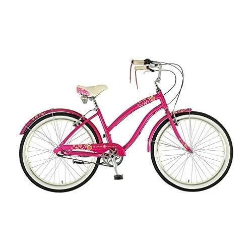 "51tiYSrHYqL. SS500  - Dawes Strawberry Ladies British Cruiser Pink 19"" bike"