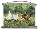 wgi Galerie wc-tg-2518die Mädchen (Hühner) auf Leinwand Wall Scroll